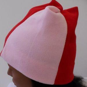 Accessories - PINK & RED FLEECE WINTER HAT NY HEADWEAR FUN